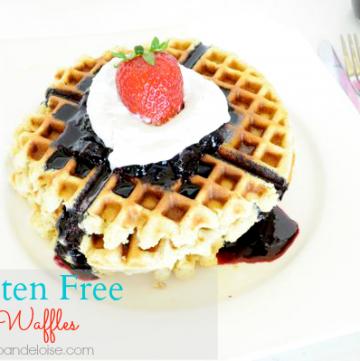 Gluten Free Waffles by jojoandeloise on www.whatscookingwithruthie.com