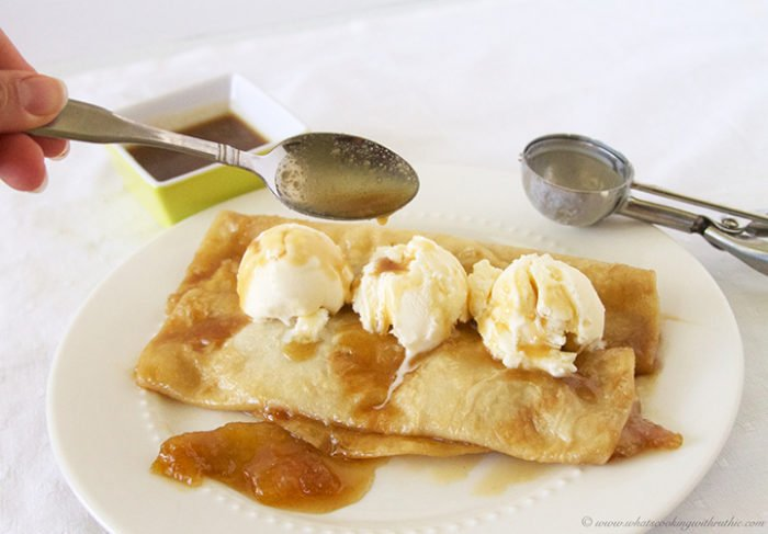 Apple Pie Enchiladas by www.whatscookingwithruthie.com