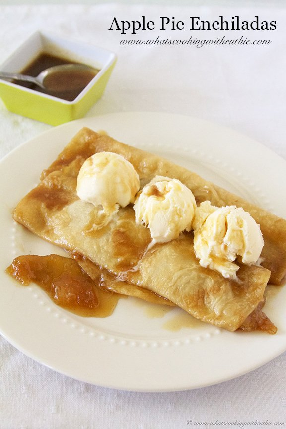 Apple Pie Enchilada by www.whatscookingwithruthie.com
