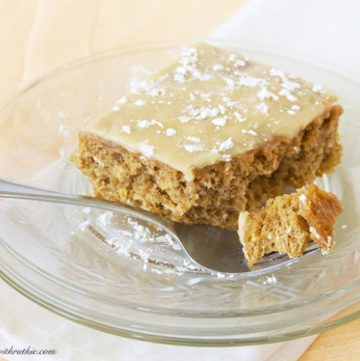 Banana Oatmeal Cake by www.whatscookingwithruthie.com