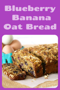 Today's Blueberry Banana Oat Bread Recipe is moist, flavorful, and loaded with juicy blueberries! Blueberry oatmeal bread is made with whole wheat and white flour, whole grain oats, eggs, brown sugar, apple sauce, bananas, blueberries, and pecans! Our Banana blueberry oatmeal bread is sure to be a favorite at your house! || cookingwithruthie.com