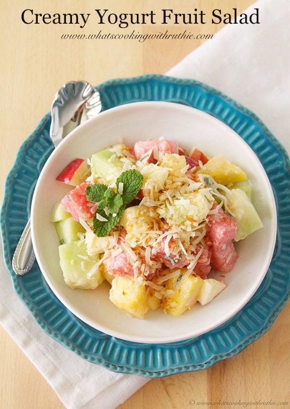 healthy fruit salad with yogurt recipe juicy fruit gum