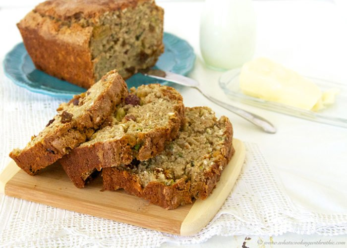 Zucchini Oat Bread by www.whatscookingwithruthie.com