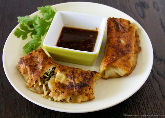 Pan-Fried Shrimp Egg Rolls by www.whatscookingwithruthie.com