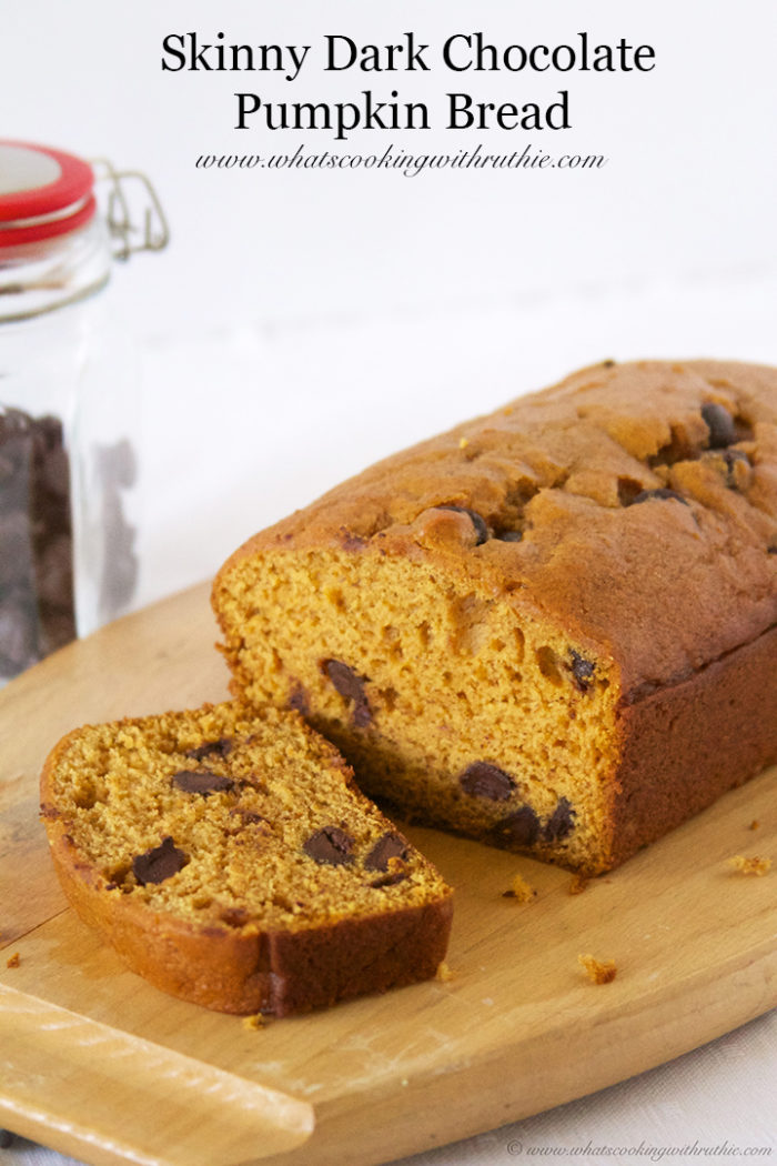Skinny Dark Chocolate Pumpkin Bread Cooking With Ruthie