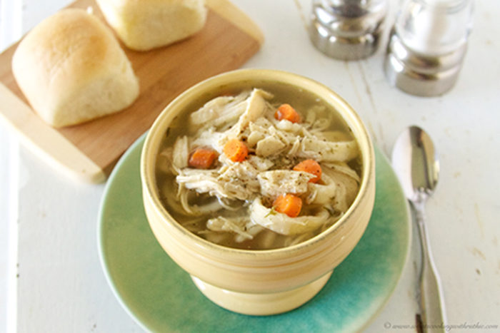 Slow Cooker Chicken Noodle Soup by www.whatscookingwithruthie.com