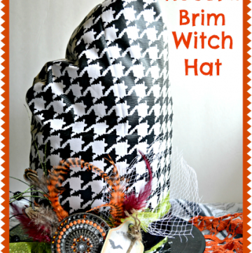 DIY Record Brim Witch Hat by www.sassystyleredesign.com on www.whatscookingwithruthie.com