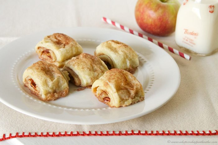 Today's Apple Pie Bites Recipe are a quick and easy way to enjoy the taste of Apple Pie without all the work! by cookingwithruthie.com
