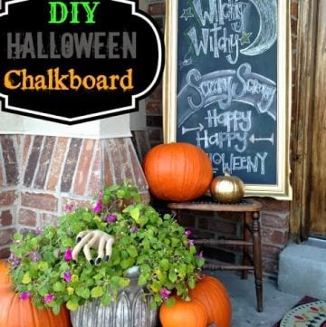 DIY Halloween Chalkboard by www.sassystyleredesign.com on www.whatscookingwithruthie.com