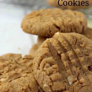 Flourless Peanut Butter Cookies- No Diets Allowed on www.whatscookingwithruthie.com