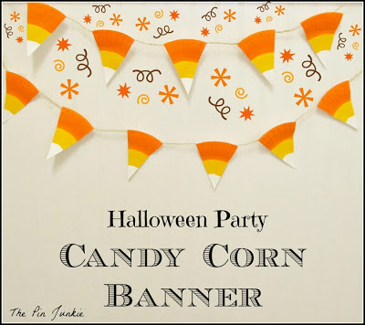 Halloween Party Candy Corn Banner#41