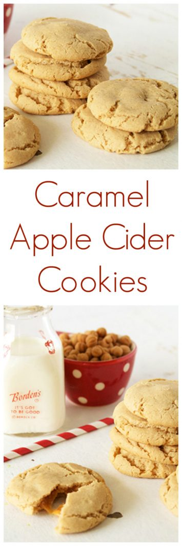You'll be so happy with these Caramel Apple Cider Cookies on www.cookingwithruthie.com– they're like autumn baked right into a yummy little treat!
