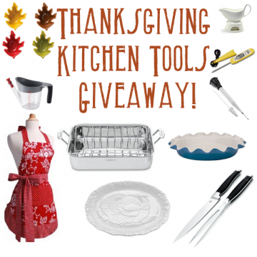 thanksgiving kitchen tools giveaway on www.whatscookingwithruthie.com