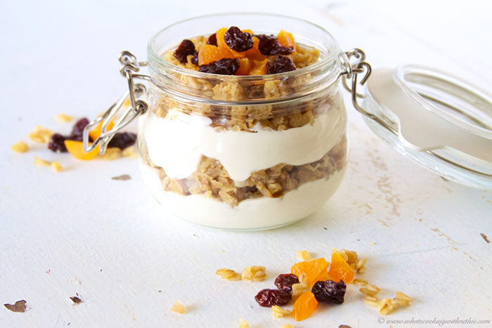 Amish Oatmeal Greek Yogurt Parfait by www.whatscookingwithruthie.com
