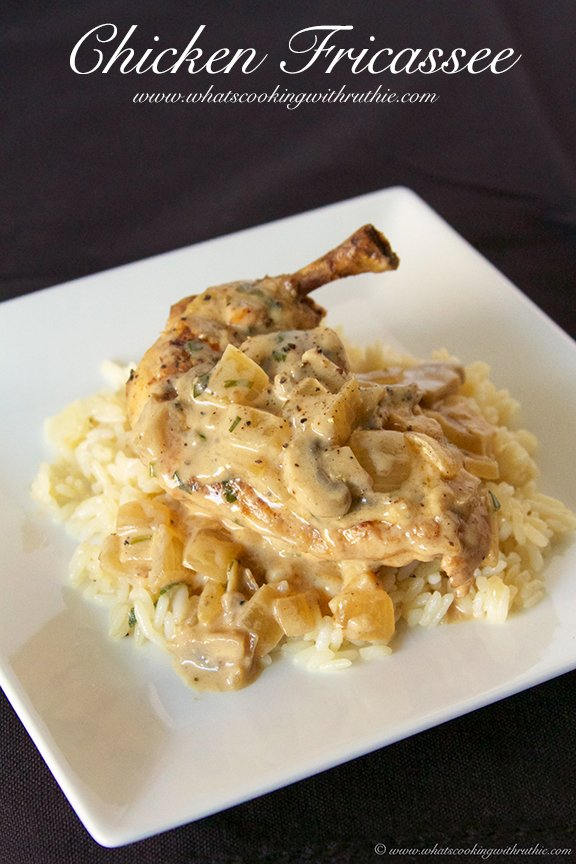 Chicken Fricassee by www.whatscookingwithruthie.com