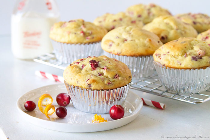 Cranberry Orange Muffins with Truvia by www.whatscookingwithruthie.com