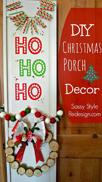 Diy Christmas Shutter Porch Decor Cooking With Ruthie