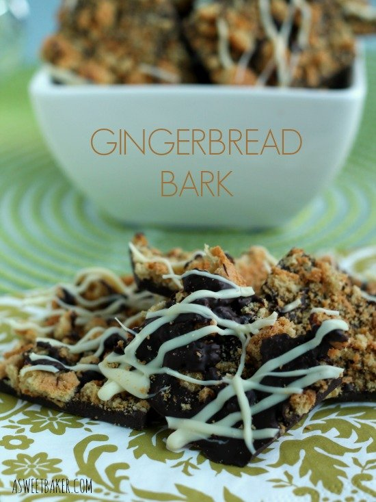 Gingerbread Bark by www.asweetbaker.com on www.whatscookingwithruthie.com