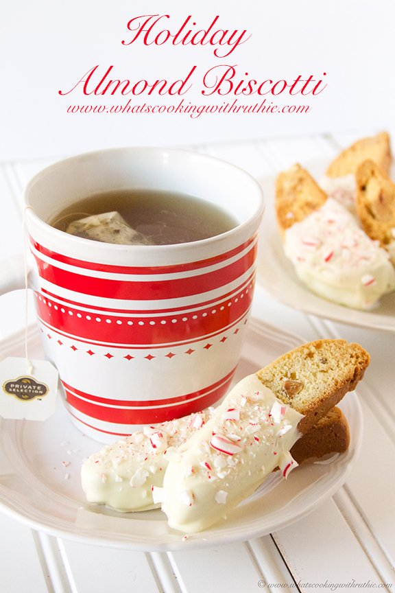 Holiday Almond Biscotti and Lagrima Giveaway on www.whatscookingwithruthie.com