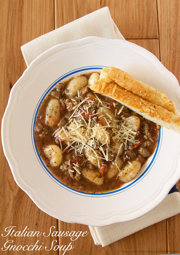 Italian Gnocchi Soup by www.whatscookingwithruthie.com