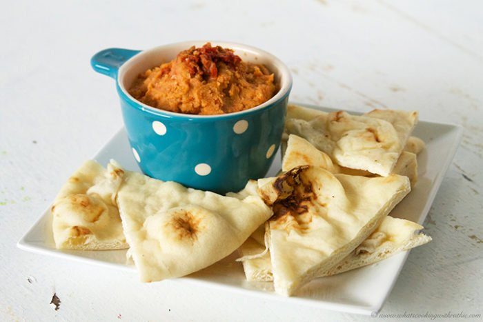 Sun Dried Tomato Hummus by www.whatscookingwithruthie.com