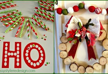 DIY Christmas Porch Decor by www.sassystyleredesign.com on www.whatscookingwithruthie.com