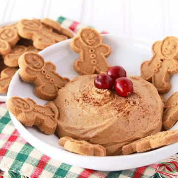 Skinny Gingerbread Dip by www.whatscookingwithruthie.com