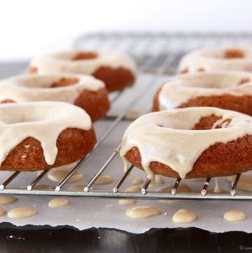 Skinny Gingerbread Doughnuts by www.whatscookingwithruthie.com