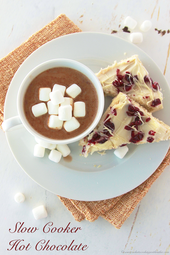 Slow Cooker Hot Chocolate - Cooking With Ruthie