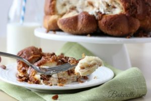 Surprise Monkey Bread by www.bakerette.com on www.whatscookingwithruthie.com