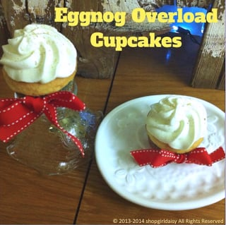 Eggnog Overload Cupcakes by www.shopgirldaisy.com on www.whatscookingwithruthie.com