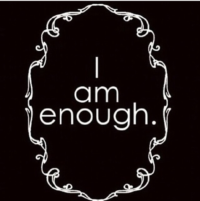 I AM enough by www.whatscookingwithruthie.com
