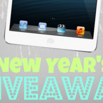 New Years Eve ipad mini Giveaway on www.whatscookingwithruthie.com