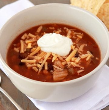 Carol's Chicken Tortilla Soup by www.whatscookingwithruthie.com