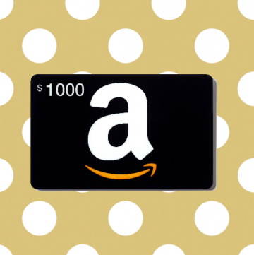 Amazon Gift Card Giveaway on www.whatscookingwithruthie.com