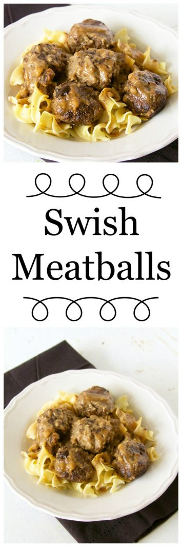 Swish Meatballs are a hearty dinner that everyone always loves! on www.cookingwithruthie.com