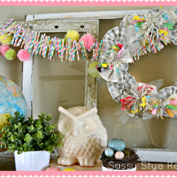 Simple SPring Wreath by www.sassystyleredesign.com on www.whatscookingwithruhtie.com