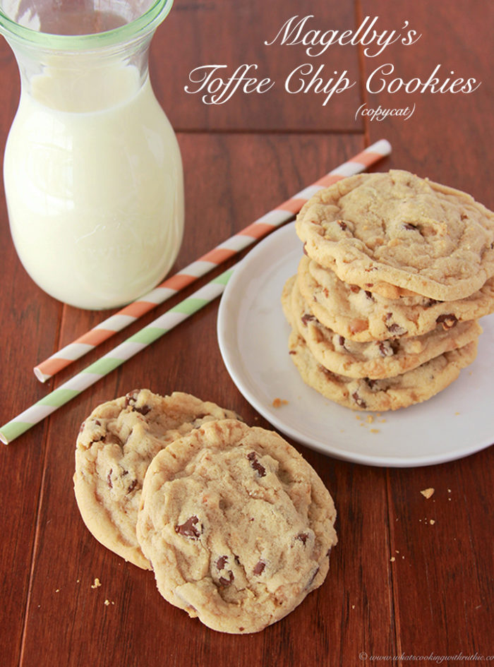 Magelby's Toffee Chip Cookies by www.whatscookingwithruhtie.com
