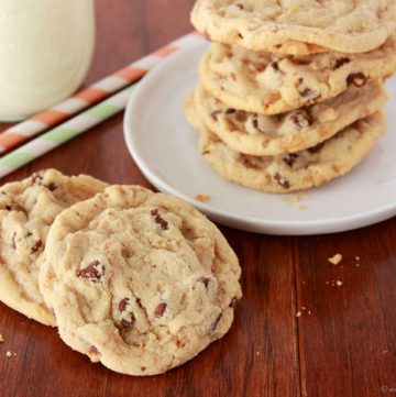 Magelby's Toffee Chip Cookies by www.whatscookingwithruthie.com