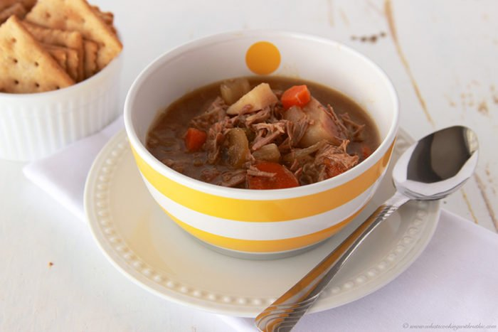Slow Cooker Beef Stew by www.whatscookingwithruthie.com