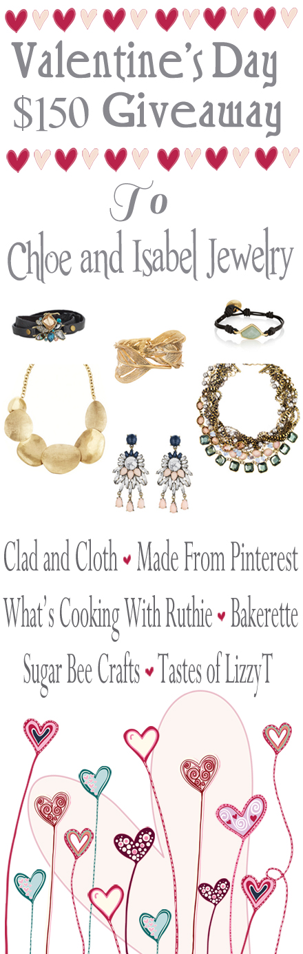 Valentine's Day Giveaway on www.whatscookingwithruthie.com