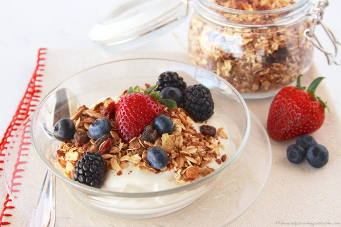 Cinnamon Vanilla Granola by www.whatscookingwithruthie.com