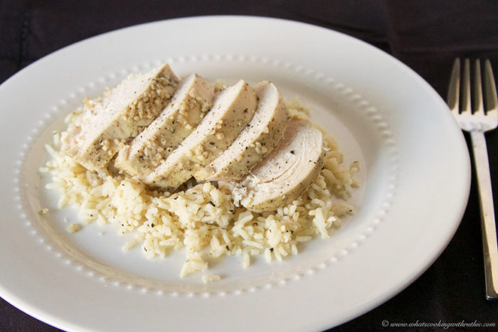 Slow Cooker Greek Chicken with Rice by www.whatscookingwithruthie.com