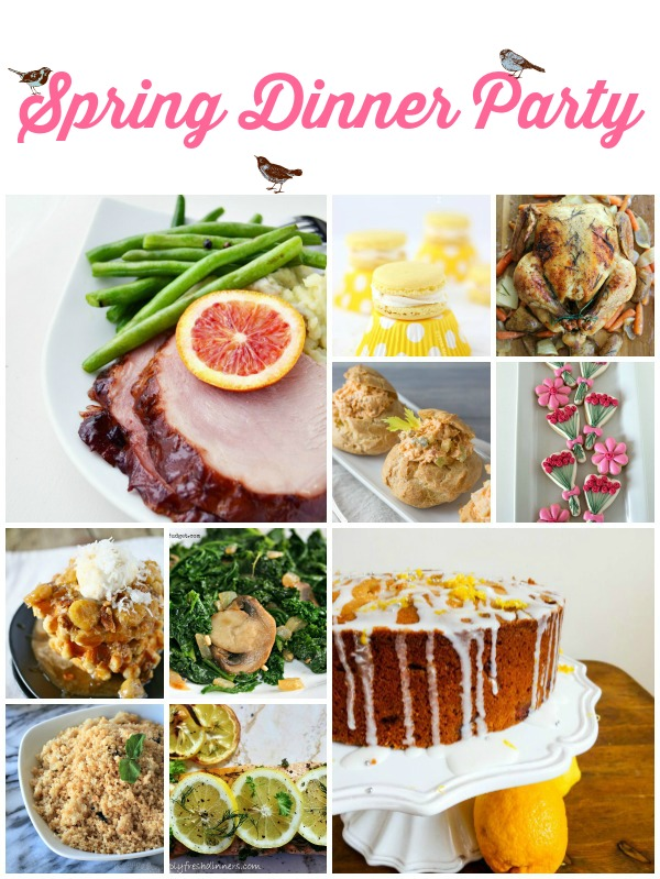 Spring Dinner Party Super Saturday Features on www.whatscookingwithruthie.com