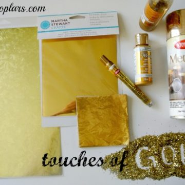 Touches of Gold by www.pinkpolkadot.com on www.whatscookingwithtruthie.com