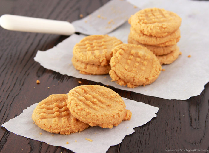 3 Ingredient Peanut Butter Cookies by www.whatscookingwithruthie.com