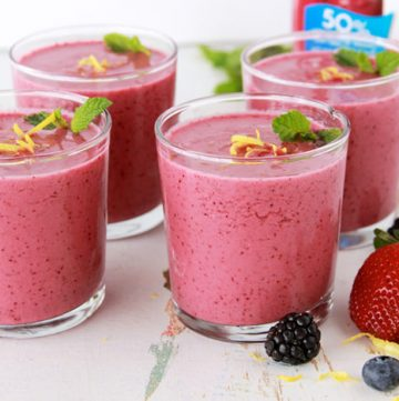 Girls Night In with a Triple Berry Smoothie by www.whatscookingwithruthie.com