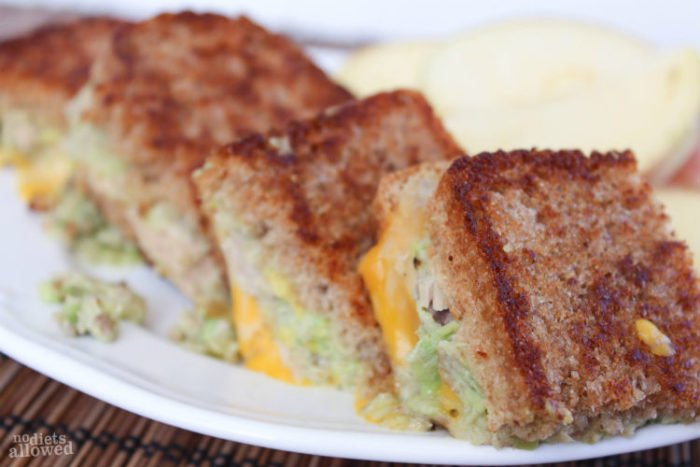 Grilled Tuna Cheese Sandwich by www.nodietsallowed.com on www.whatscookingwithruthie.com