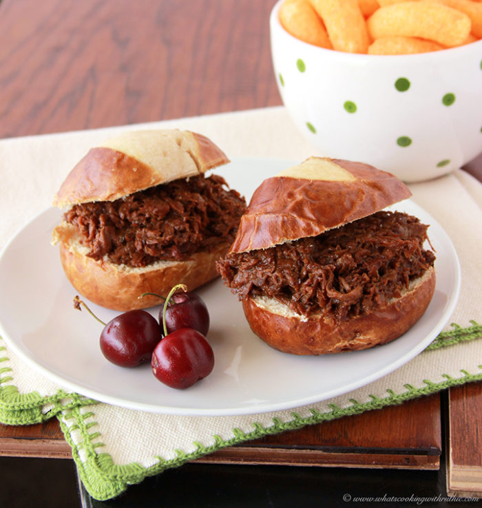 Cherry BBQ Beef Slider by www.whatscookingwithruthie.com
