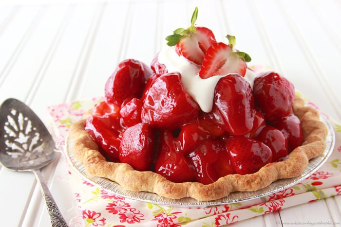 Homemade Strawberry Pie by www.whatscookingwithruthie.com